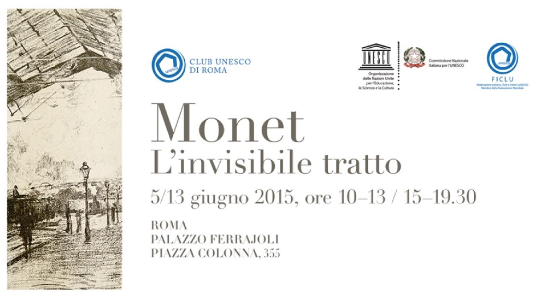 """Inaugurazione della mostra """"Claude Monet – L'invisibile tratto"""", realizzata dal Club Unesco Roma per beneficenza"""
