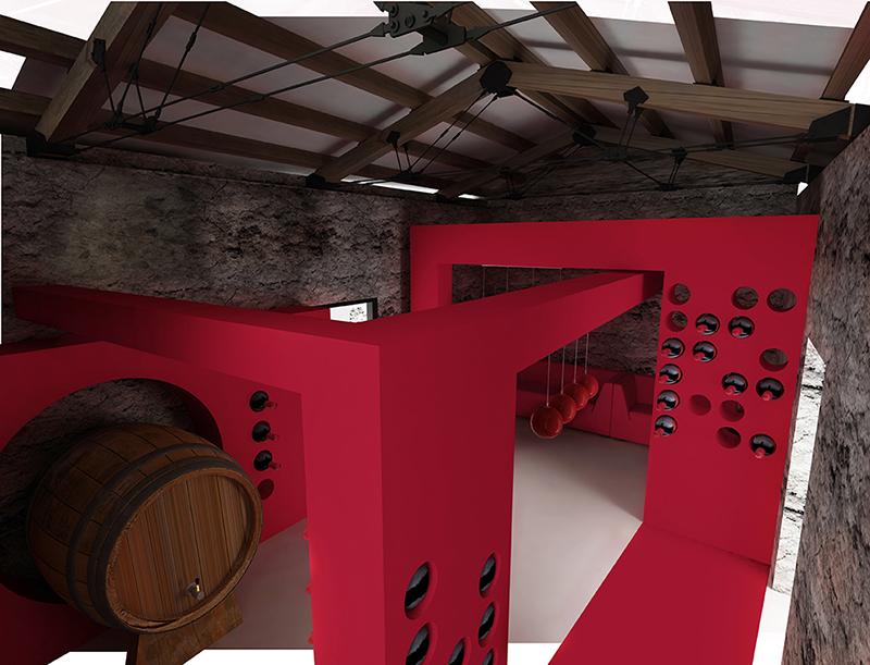 Visual 5- Le botti di vino dell'ipotetica cantina sociale.