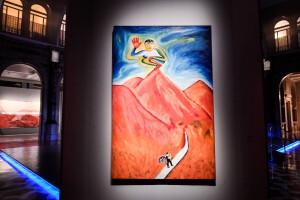 01/06/2021 Milano, Gallerie D'Italia, Intesa San Paolo, Mostra Painting Is Back, anni ottanta la pittura in Italia; allestimento